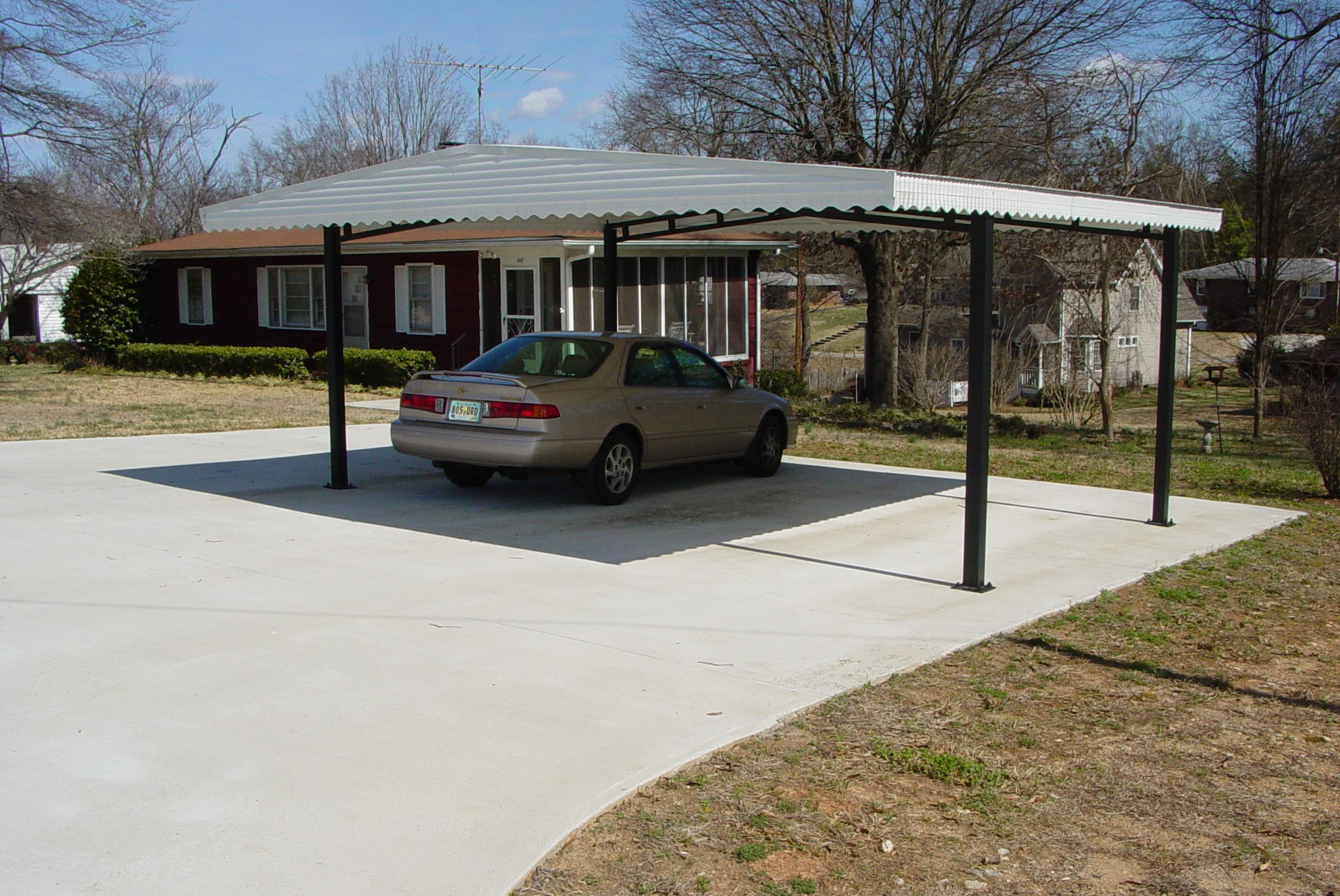Carport for rv camping pinterest Motorhome carport plans